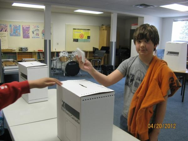 Student Vote at Falher's École Routhier School.