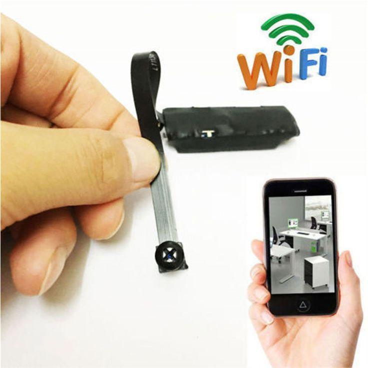 Mini Inalámbrica Cámara Ocultada WIFI IP Pinhole DIY P2P Videocámara Micro DVR Soporta Audio de Tarjeta TF