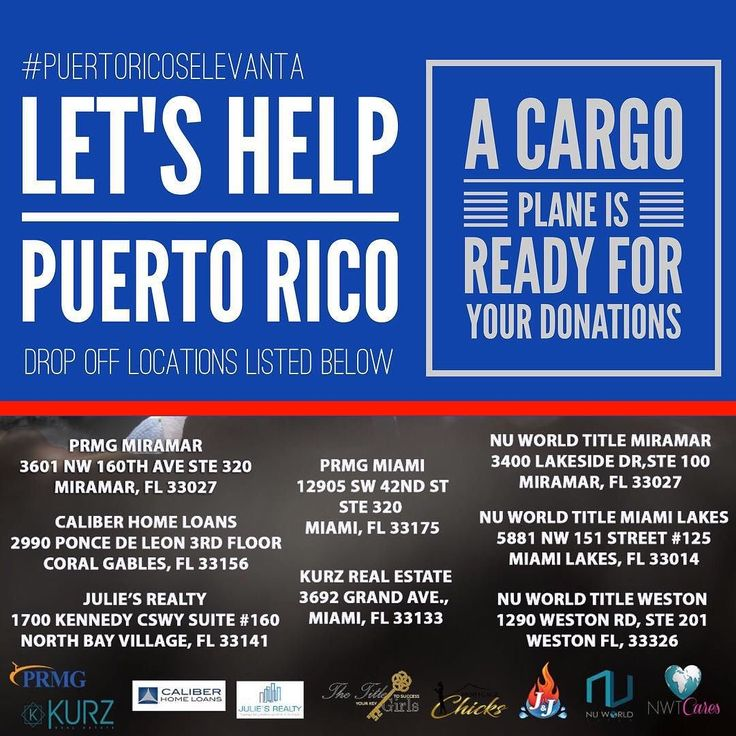 #puertoricoselevanta  A Cargo Plane  is ready for your #donations. There are drop-off locations located throughout #Miami and #Broward.  Let's help our brothers and sisters in #PuertoRico  @jnjgeneral @jennysellsmiami @prmginc @caliberhomeloans @kurzrealestate @nuworldtitle @nuworld_miamilakes @thetitlegirls @juliesrealtymiami @mortgagechicks . . . #jnjgeneral #stromdamage #waterdamage #mold #fire #smoke #waterrestoration #emergencyservice #fileacclaim #billyourinsurance #wefightforyou…