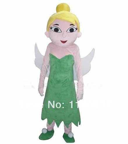 No.1 талисмана TinkerBell костюмы для взрослых размер TinkerBell костюм талисмана Mascotte наряд костюм Cosply маскарадный костюм карнавальный костюм