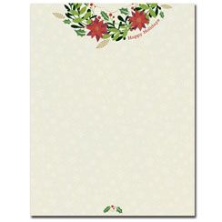 Happy Holiday Wreath Letterhead