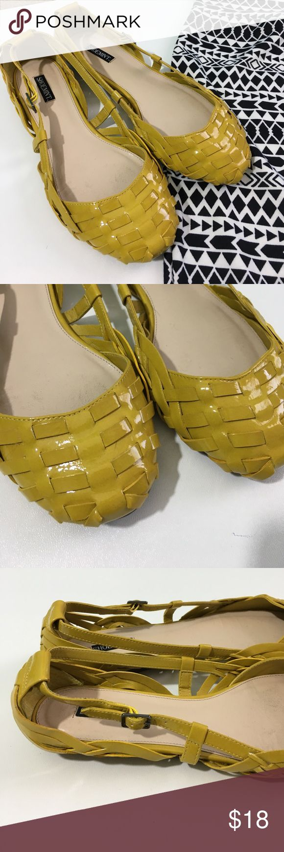 Adorable yellow flats!  These flats are perfect for spring! they were just the wrong shade of yellow for me. They are closer to a mustard yellow. Perfect condition. Shoemint Shoes Flats & Loafers