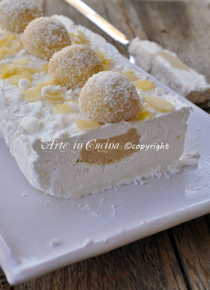 Torta gelato raffaello