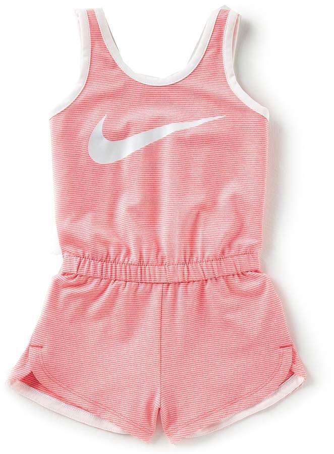 0f1a0731a6d7 Nike Little Girls 2T-6X Dri-FIT Sports Essentials Romper