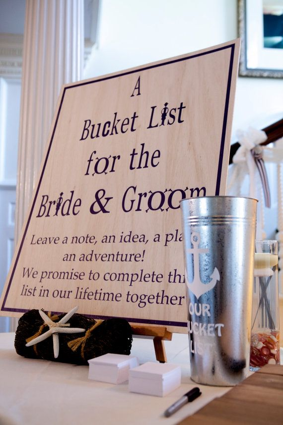 A Wedding Bucket List for the Bride and Groom by SimplySulli