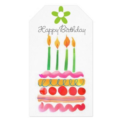 Blow out the birthday candles gift tags in