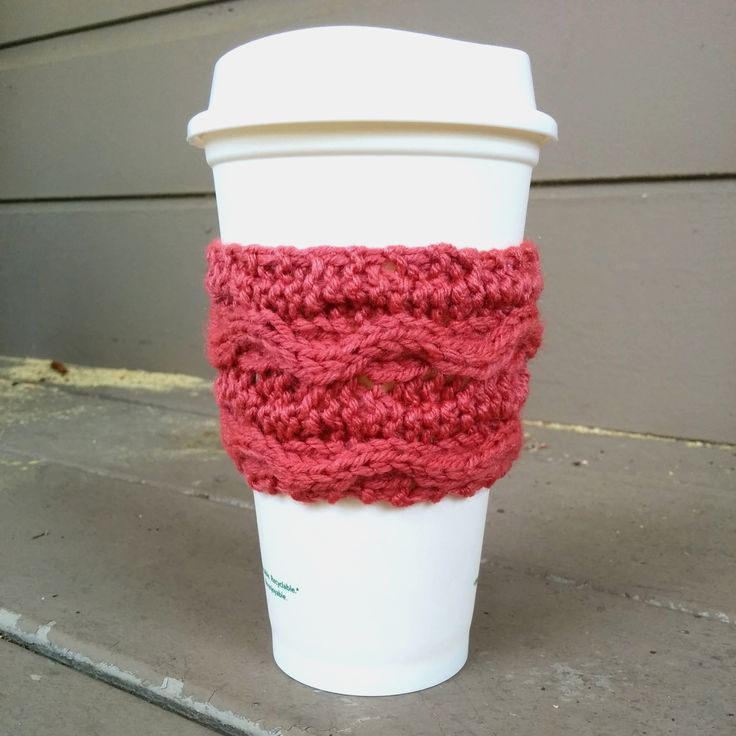 Free Knitting Pattern Coffee Cup Sleeve : 26 best images about Cup cozy on Pinterest Little cup, Coffee cup sleeves a...
