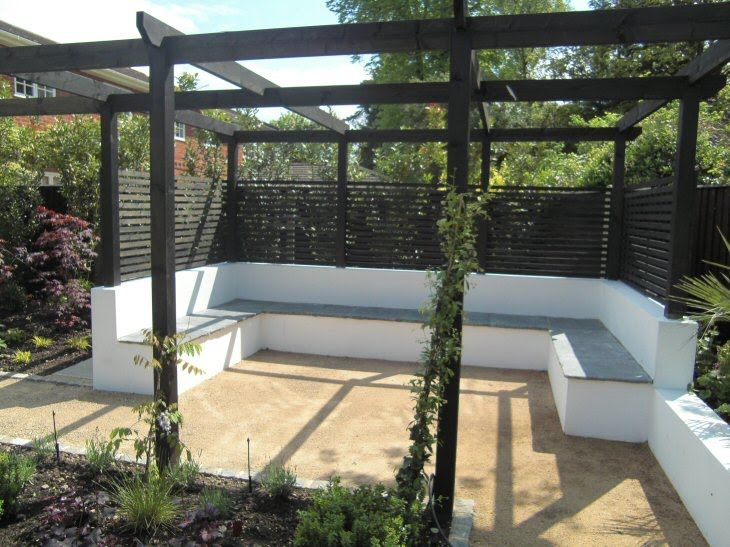 Pergola With Fixed Seating The Bank Pinterest