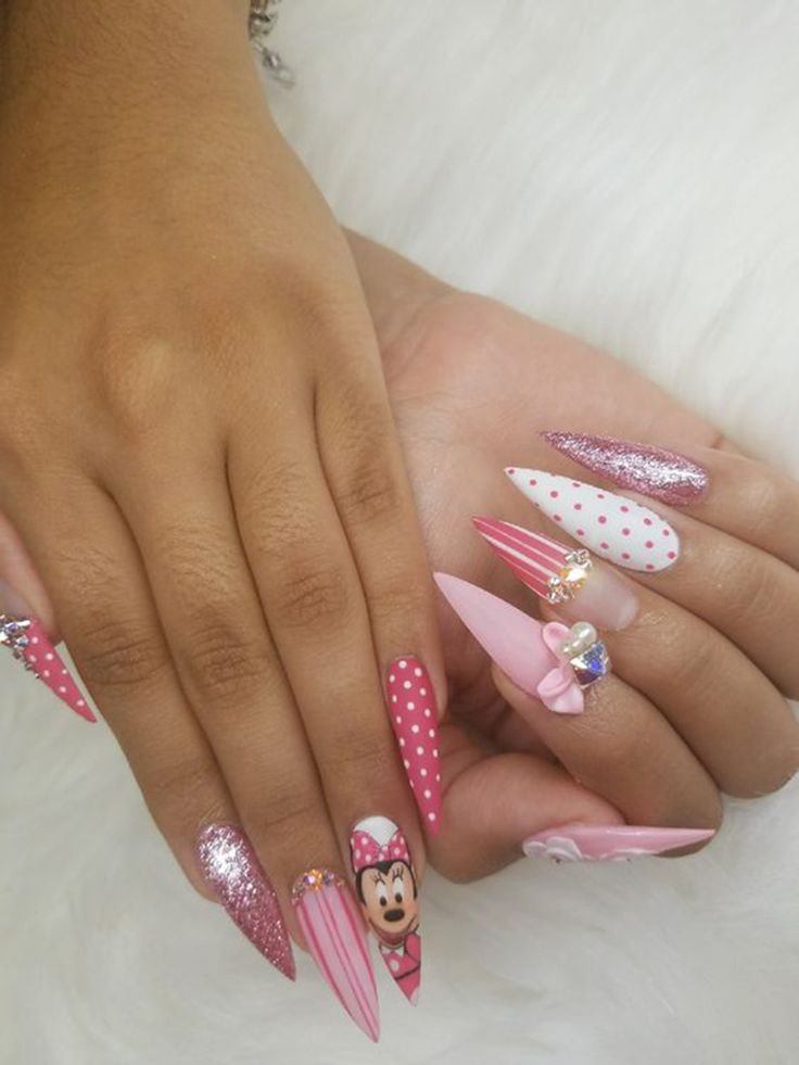 39 Best Bow Stiletto Nails, 2019 zu versuchen – Nails