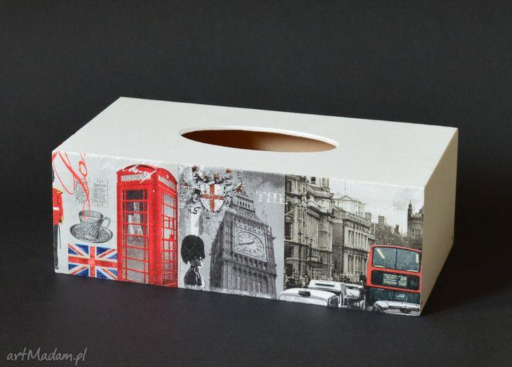 Chustecznik pudełko chusteczki londyn pudełka koloryziemi