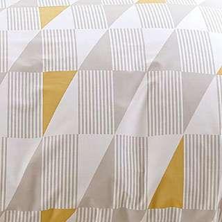 Skandi Geometric Yellow Reversible Duvet Cover and Pillowcase Set | Dunelm