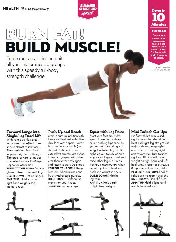 Easy exercises to burn fat and build muscle | Exercise ...