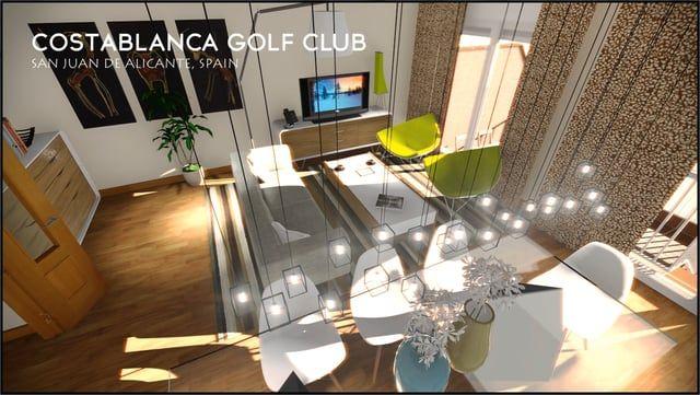 CG COSTABLANCA GOLF CLUB, SAN JUAN DE ALICANTE, SPAIN  Real Estate Developer: GRUPOALTOSA.ES  / GRUPO ALTOSA  Modelling, Texturing, Illumination, Rendering, Postproduction and Editing: RVARQ.COM / NICOLÁS WEHNCKE  Music: Playa del Mar by Starlive Cafe  PROJECT LINK & RENDERS: rvarq.com/portfolio-item/video-2015-16/
