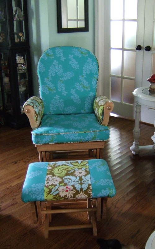 To recover my ugly glider chair  chair  glider rocker make your own pad or  cushion tips tutorialTop 25  best Recover glider rockers ideas on Pinterest   Glider  . Recover Chair Pad. Home Design Ideas