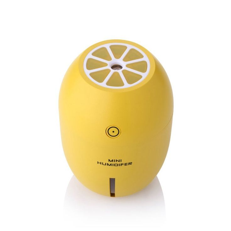 Lemon Humidifier LED Light Portable USB Air Humidifier Purifier For Home Office Car Travel Baby (Yellow)