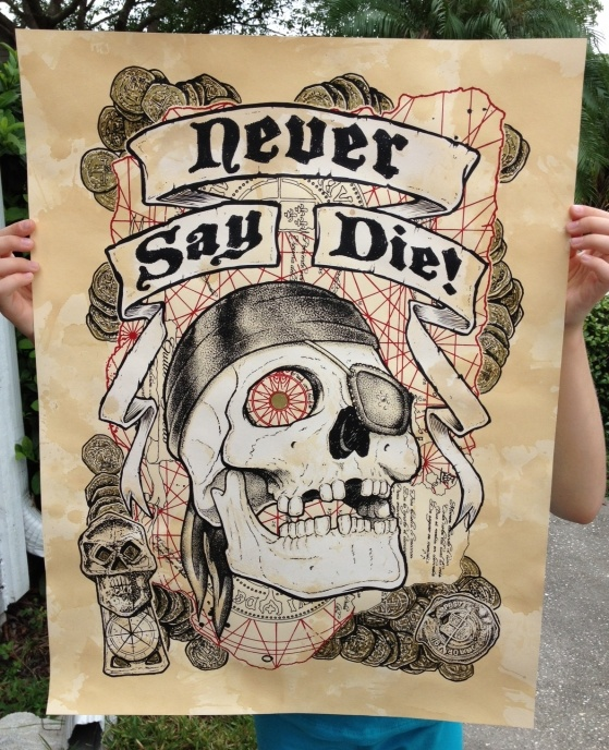Rob Schwager's Never Say Die Goonies Poster