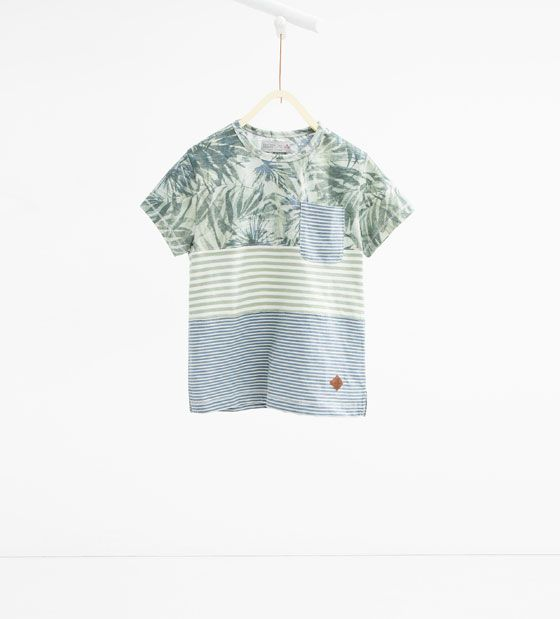 Image 1 of Striped top with palm trees from Zara