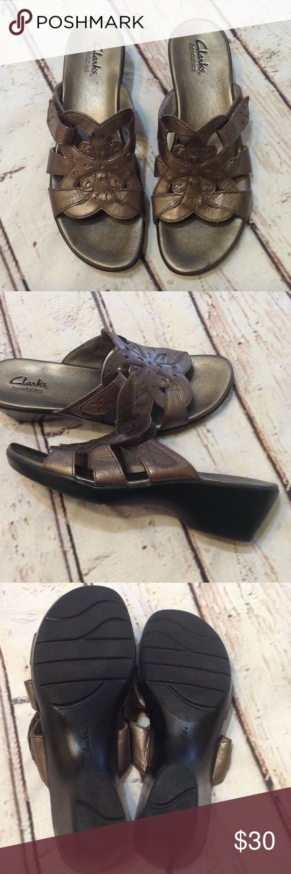 Clarks Sandals size 8 1/2 Clarks sandals size 8 1/2 USA,   Good condition,  thank you for looking Clarks Shoes Sandals