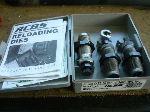 RCBS Carbide 40 s w 10mm Reloading Die Set | eBay