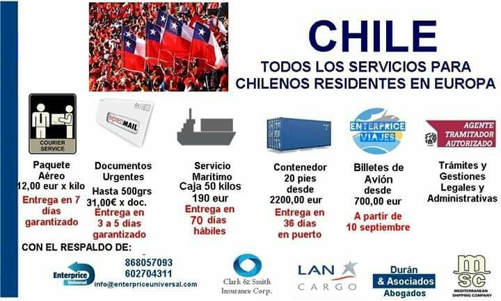 Servicios para chilenos residentes en la Union Europea