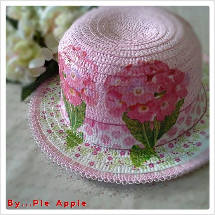sweety flower pink hat summer hat, lady hat, straw hat Made to order and for sell