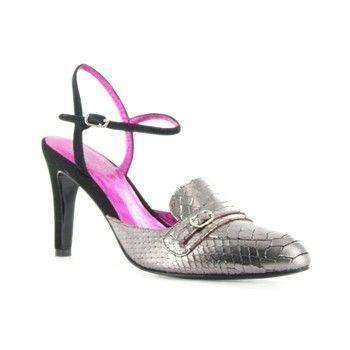 Chaussures à talon en cuir étain - Kesslord - Ref: 1217383 | Brandalley