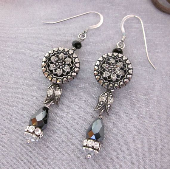 31 Best Images About Vintage Jewelry Upcycled--Earrings On