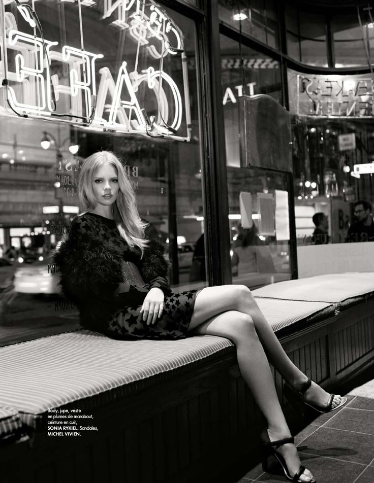 """Lady's Night"" Marloes Horst by Arthur Elgort for ELLE France June 2015"