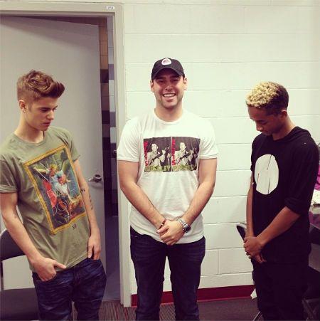 Justin Bieber, Jaden Smith And Scooter Braun Backstage In Miami! - http://belieberfamily.com/2013/01/28/justin-bieber-jaden-smith-and-scooter-braun-backstage-in-miami/