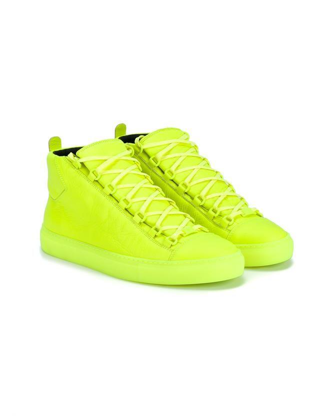 BALENCIAGA Arena High-Top Leather Sneakers. #balenciaga #shoes #sneakers