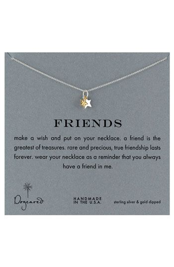 Dogeared 'Reminder - Friends Boxed Pendant Necklace | Nordstrom