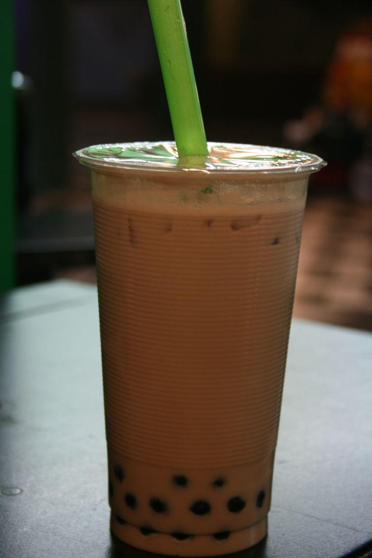 Chocolate Milk Tea with Boba | Bubble Tea | Pinterest | Milk tea, Teas ...