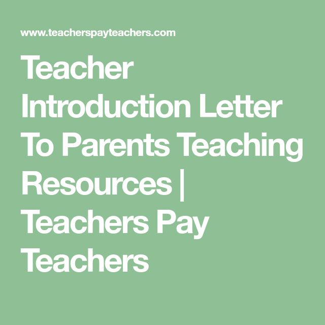 Best 25+ Teacher introduction letter ideas on Pinterest Letter - introduction letter