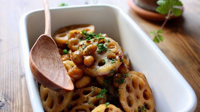 これどうやって作ったの⁈って絶対聞かれる持ち寄りレシピ、蓮根と大豆のバルサミコの作り方 LIMIA (リミア)