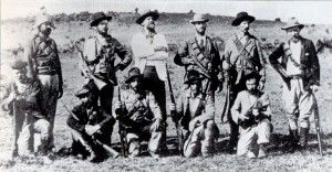 American volunteers who joined the Boers against the British Empire. Col. Arthur Alfred Lynch, commander of the Irish Brigade, stands in the...