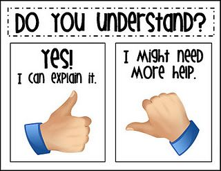 Checking for Understanding! ... We do thumbs up and thumbs down in my classroom! So fun!