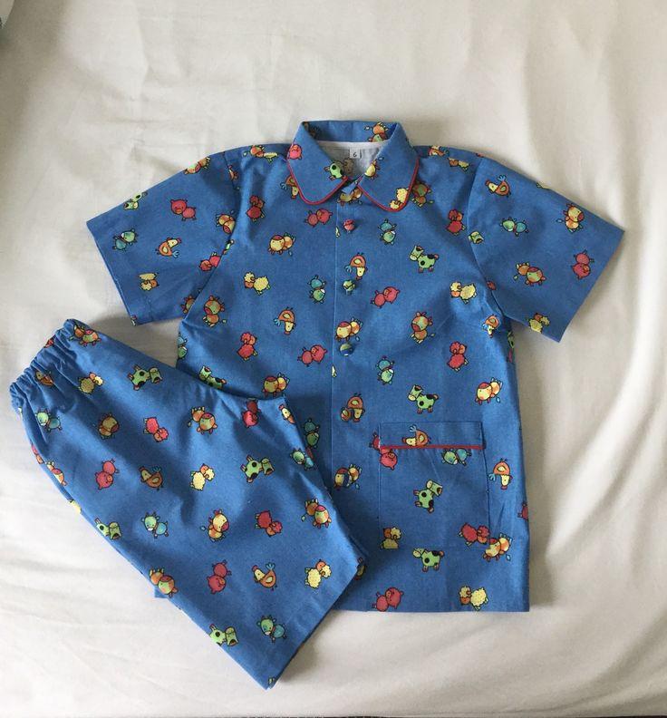 Pyjama d'été en coton T 6 ans : Mode garçons par les-bambins-bpcouture