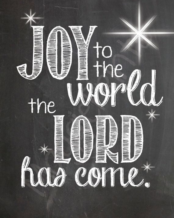 JOY to the world the Lord has come. by maggieprints on Etsy
