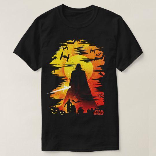 Halloween Darth Vader Silhouette Halloween Custom Shirts