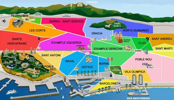 Aafdfdfaffccbdccjpg Barcelona Pinterest - Barcelona map eixample district