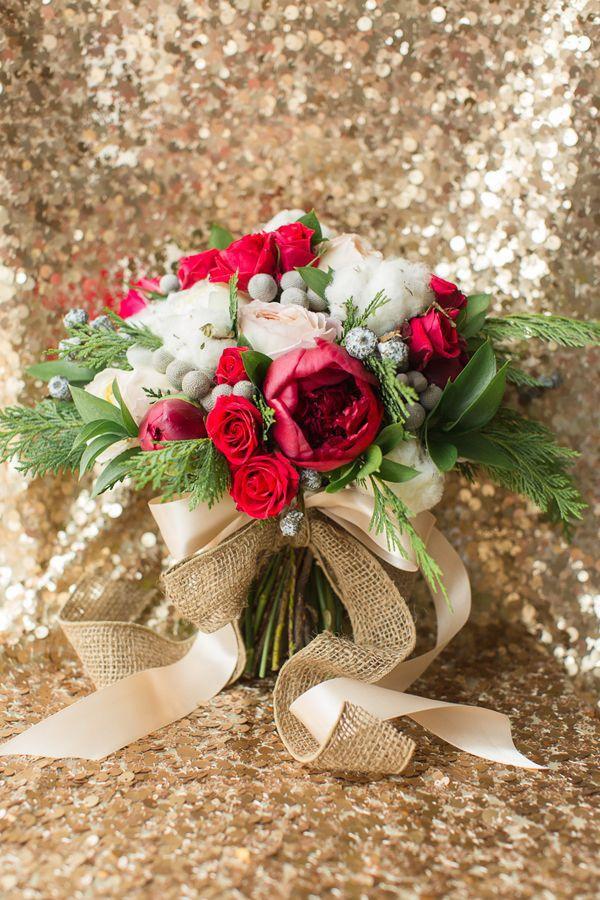 bouquet rosso e bianco | Wedding Wonderland