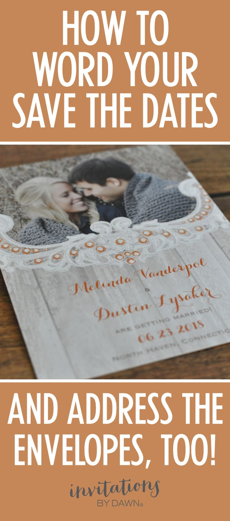 Make sure you have the correct format for addressing your save the date envelopes. Visit Invitations by Dawn blog to learn how!