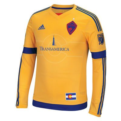 Men's Colorado Rapids adidas Yellow 2016 Authentic Secondary Long Sleeve Jersey ($119.99)