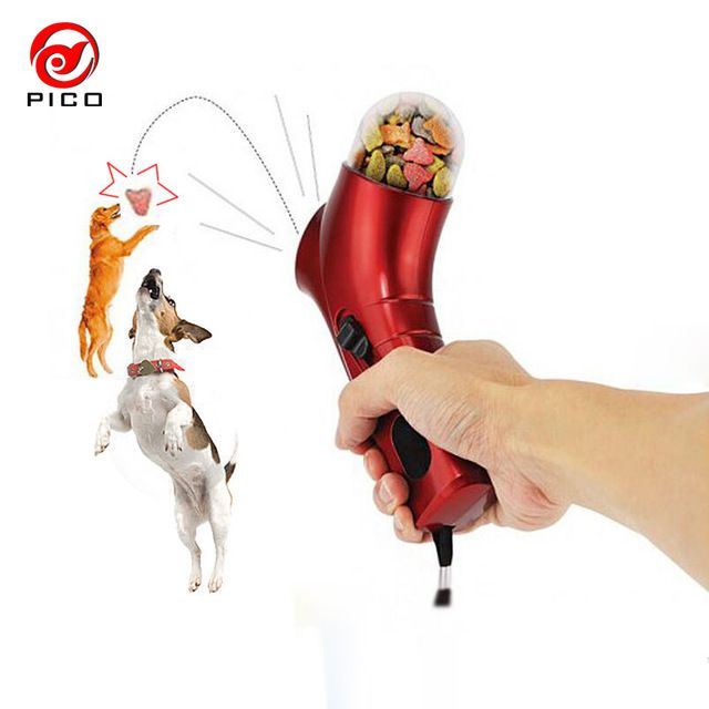 $6.99!!! PET TREAT LAUNCHER Training dog food catapult auto pets food thrower puppy Snacks Feeder ZL10