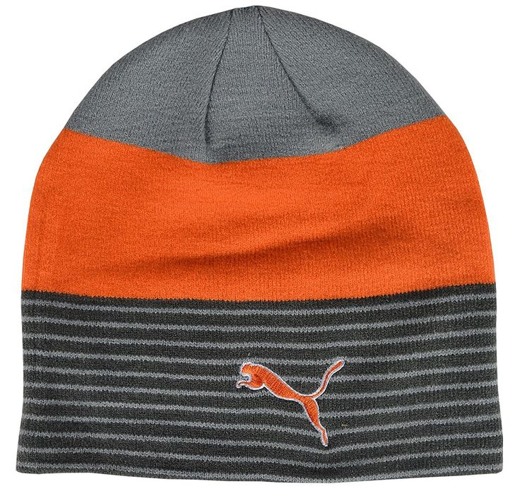 Play your golf in warmth and comfort this winter with this stylish womens  stripe fleece lined golf beanie hat by Puma!