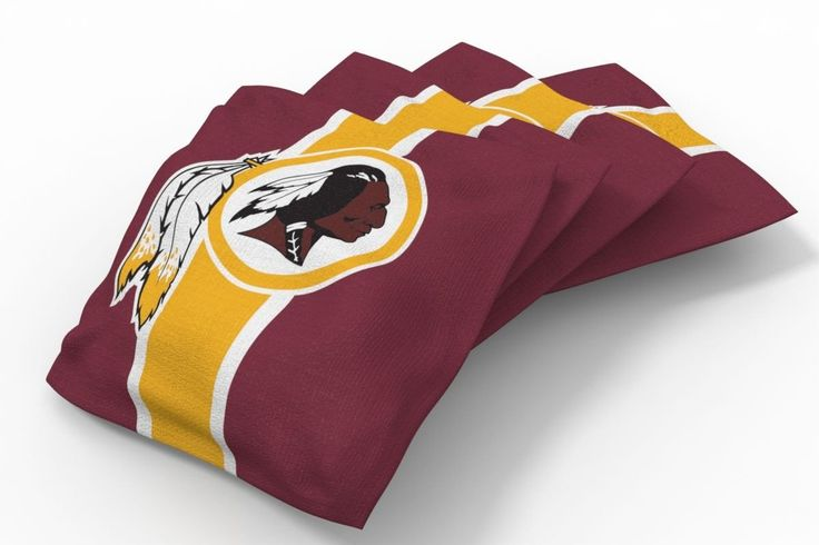 Washington Redskins Stripe Bean Bags-4pk (A)