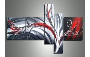Red Abstract 143 - 64 x 34in | Dzign Art