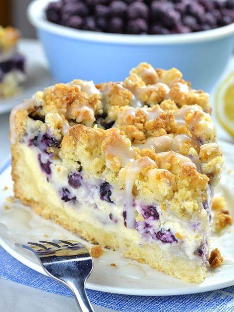 Blueberry Cheesecake Crumb Cake    – Greek salad