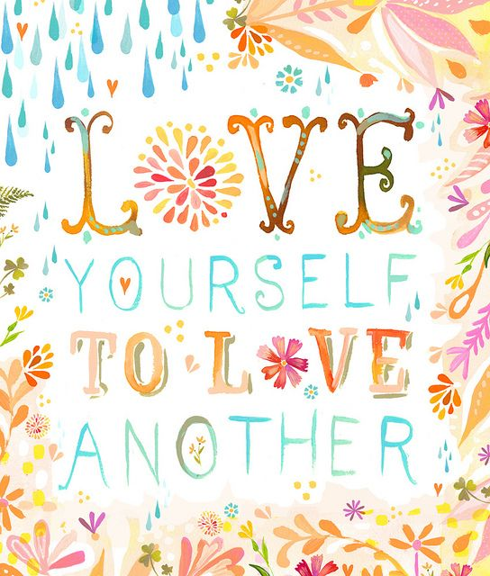 You can't love others unless you love yourself through Christ! It can be egocentric, but not if you're looking through the eyes of Jesus!