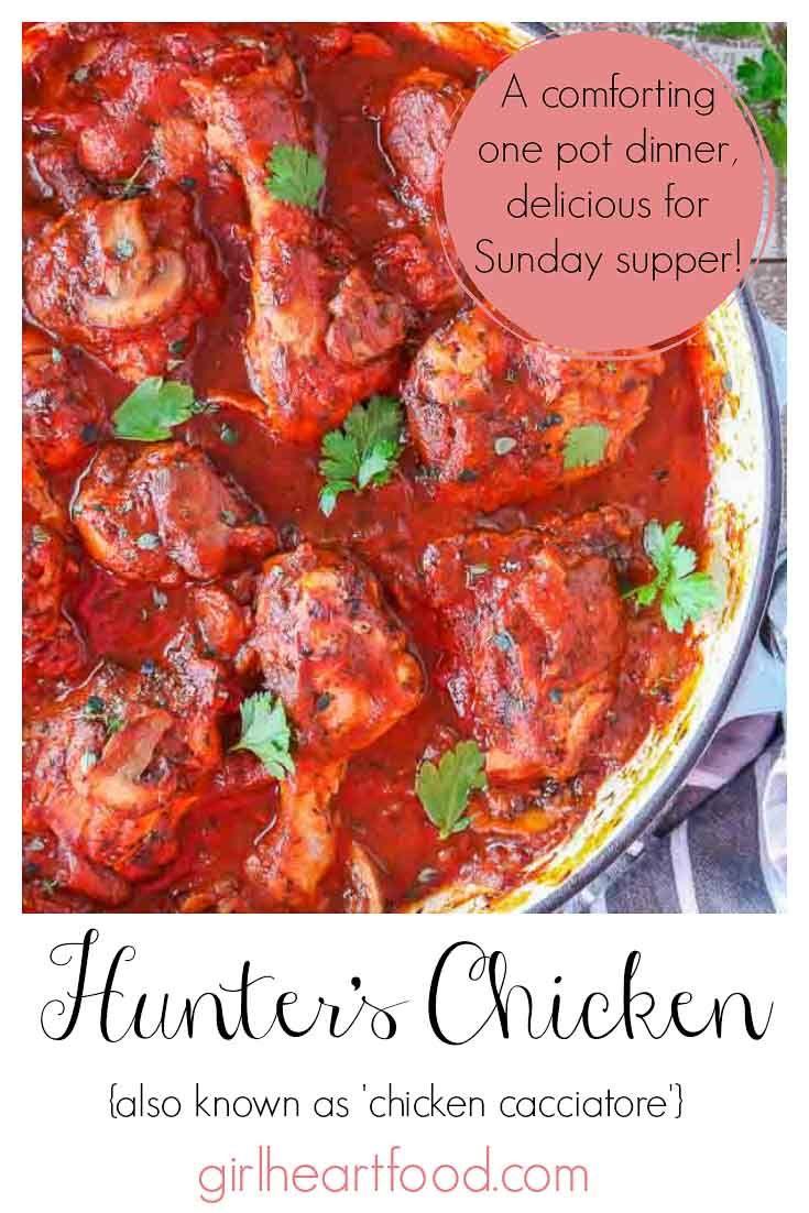 Hunter S Chicken Recipe Easy Chicken Cacciatore Recipe In 2020 Hunters Chicken Recipe Chicken Cacciatore Cacciatore Recipes